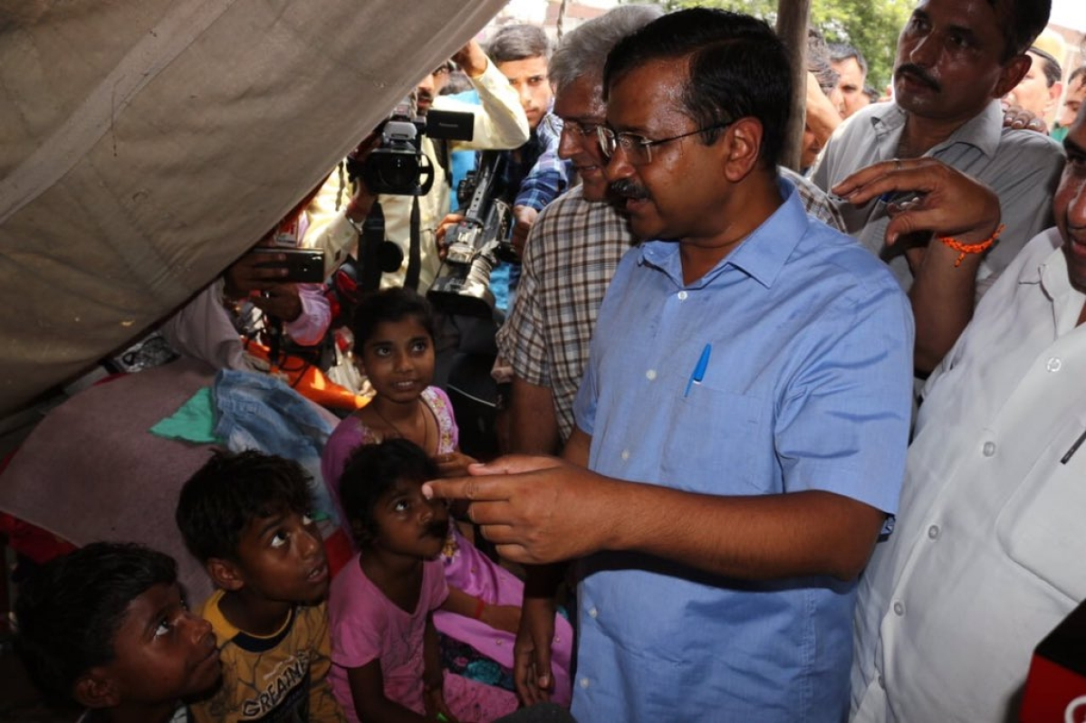 If there is any shortage, we will immediately do the needful: Kejriwal assures flood-affected