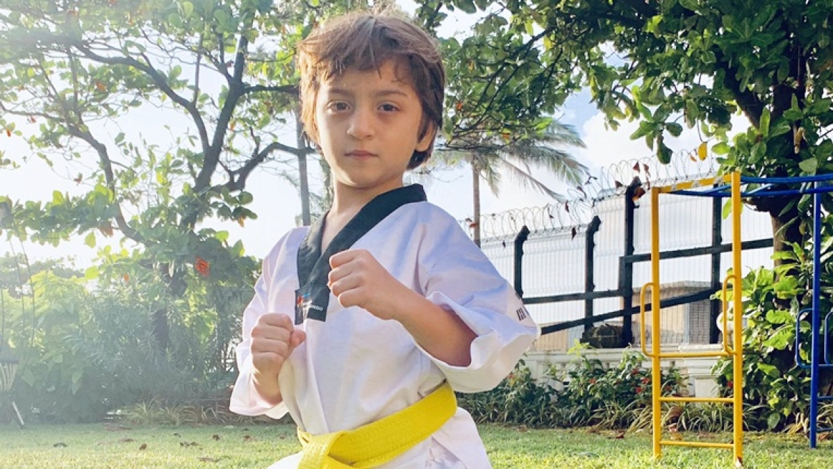 AbRam Khan earns yellow belt,  continues 'family tradition' of learning Taekwondo