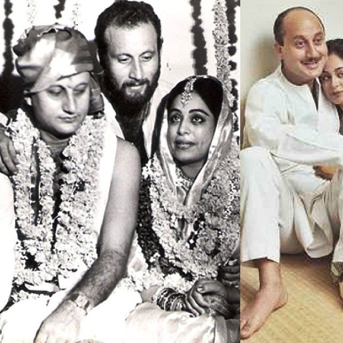 Anupam Kher shares wedding photo to wish wife Kirron Kher on 34th wedding anniversary