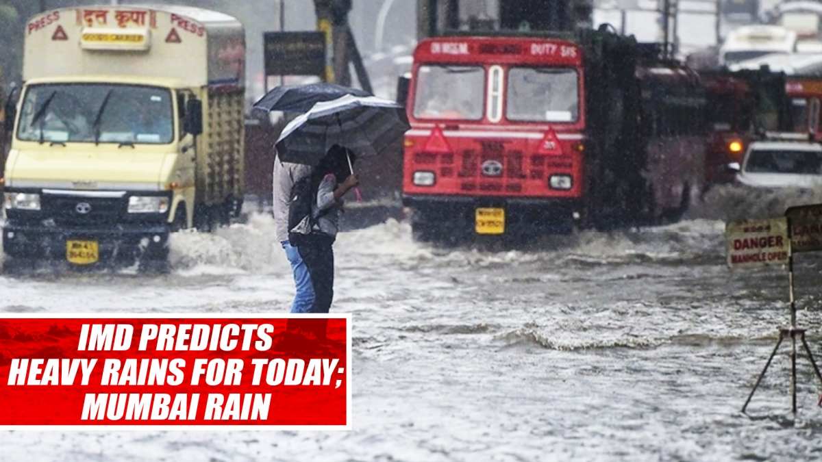 IMD predicts heavy rains for today; Mumbai, adjoining areas continue to receive heavy rainfall