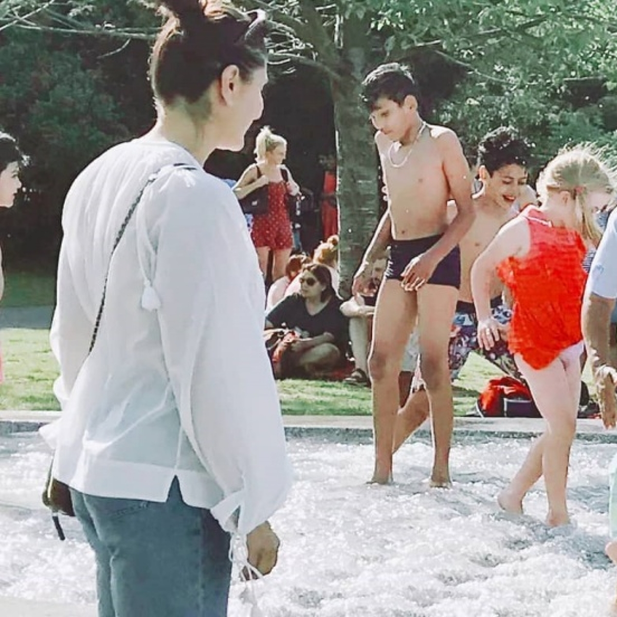 See Pics: Kareena Kapoor enjoys pool-party with son Taimur Ali Khan