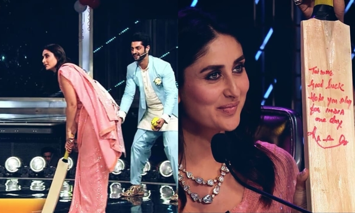 Kareena Kapoor wishes Taimur becomes cricketer like his grandfather, gets a bat signed by Kapil Dev