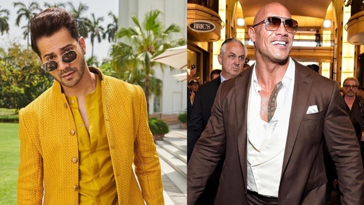 This social media banter of Varun Dhawan and Dwayne Johnson aka 'The Rock' is unmissable