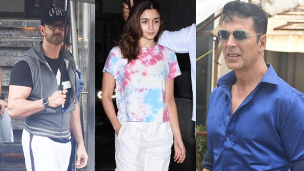 In Pics: Akshay Kumar, Hrithik Roshan, Alia Bhatt snapped in Mumbai