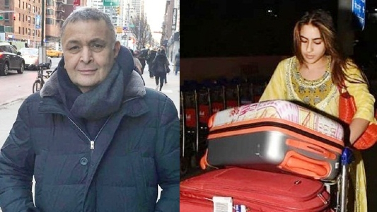 Rishi Kapoor praises Sara Ali Khan for carrying her luggage without any help