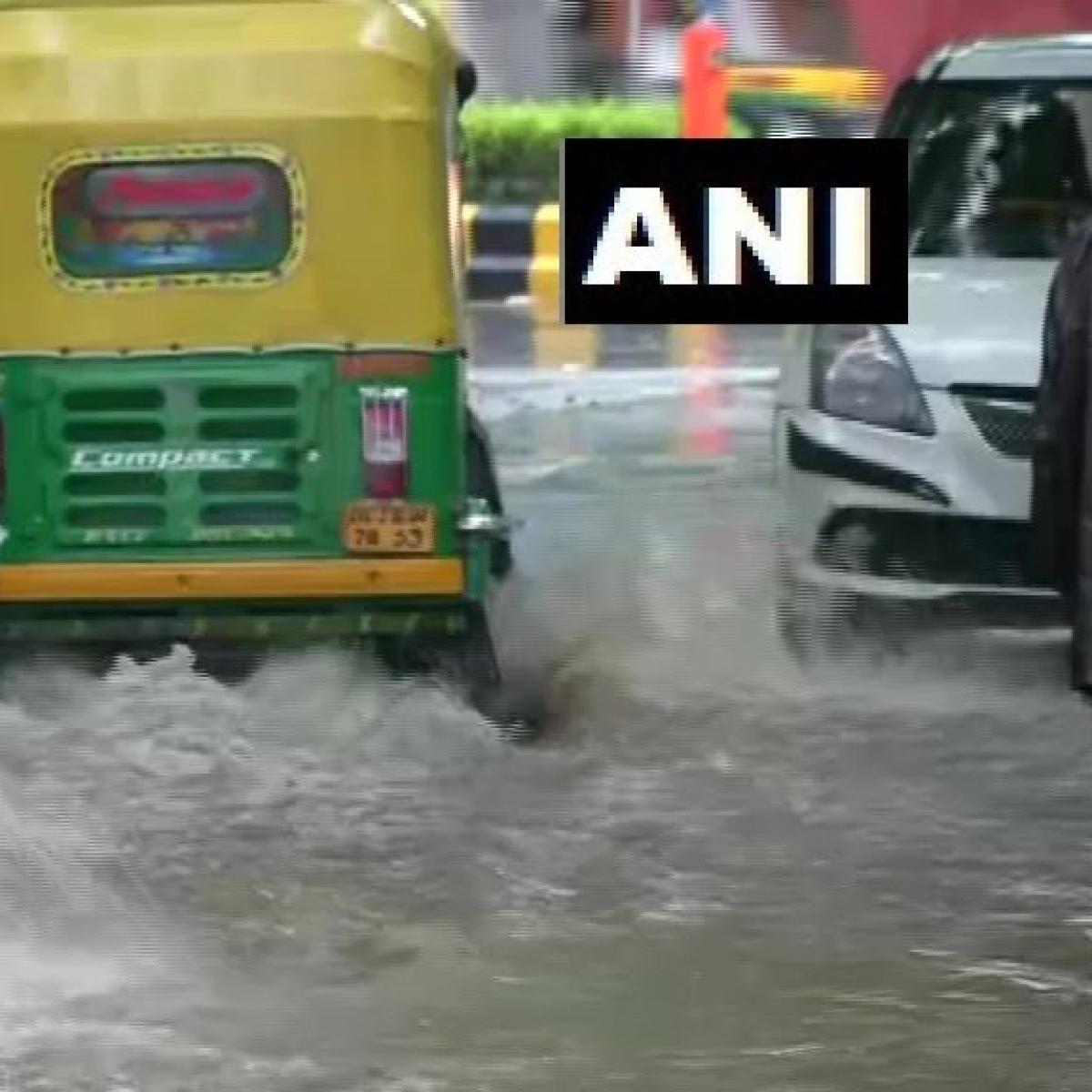 Heavy rain lashes Delhi-NCR; waterlogging, traffic snarls during rush hour