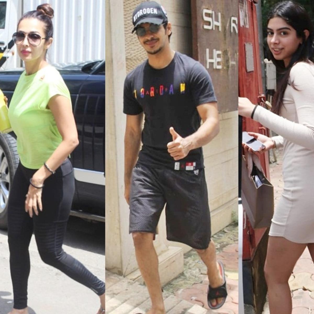 Celebrity Spotting: Malaika Arora, Ishaan Khatter, Kushi Kapoor and more