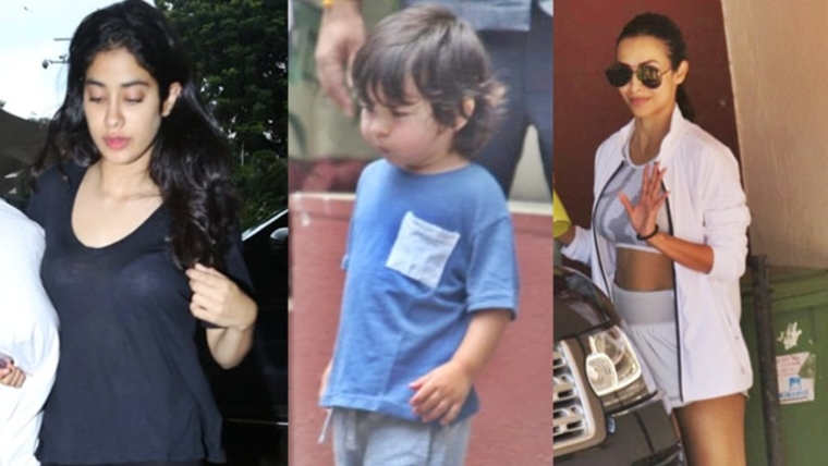 Malaika Arora, Janhvi Kapoor, Taimur Ali Khan clicked around the city