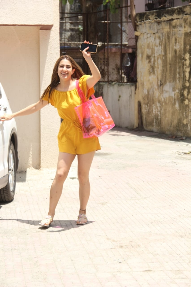 Sara Ali Khan spotted at Pilates