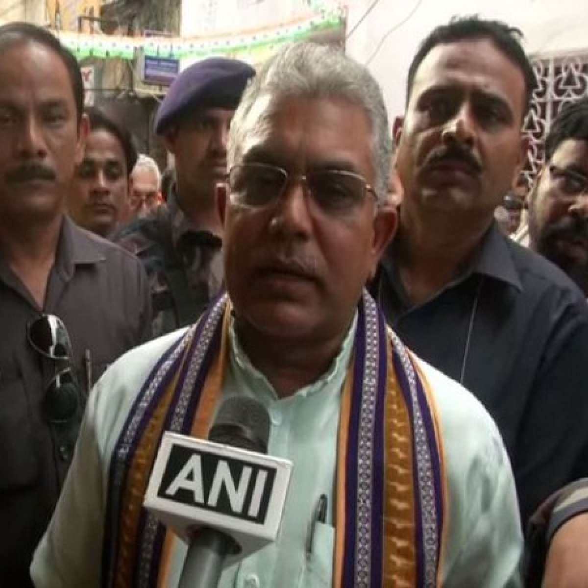 West Bengal BJP chief Dilip Ghosh booked for 'beat TMC workers, cops' remark