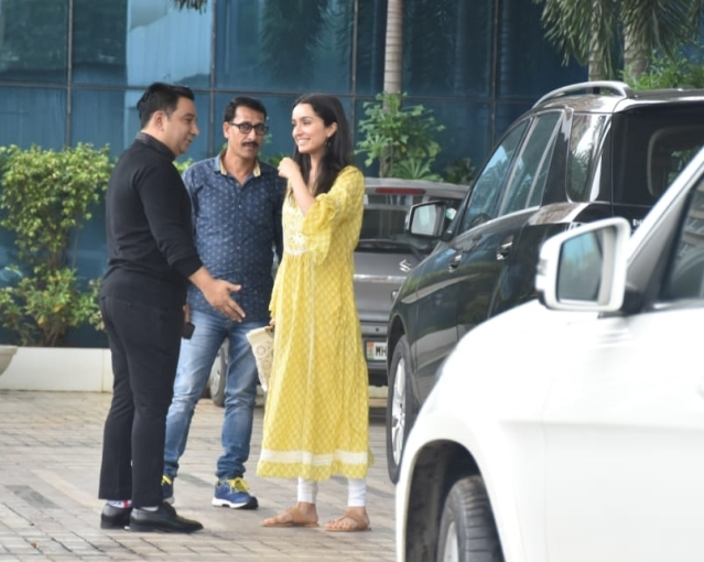 Shraddha Kapoor gearing up for 'Bagghi 3' snapped at Sajid Nadiadwala's office Andheri