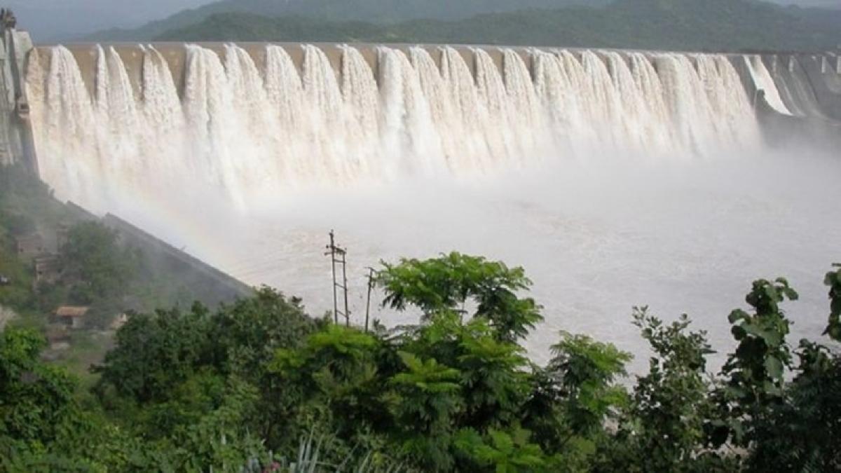 Gujarat: Sardar Sarovar Dam gates opened for first time after installation