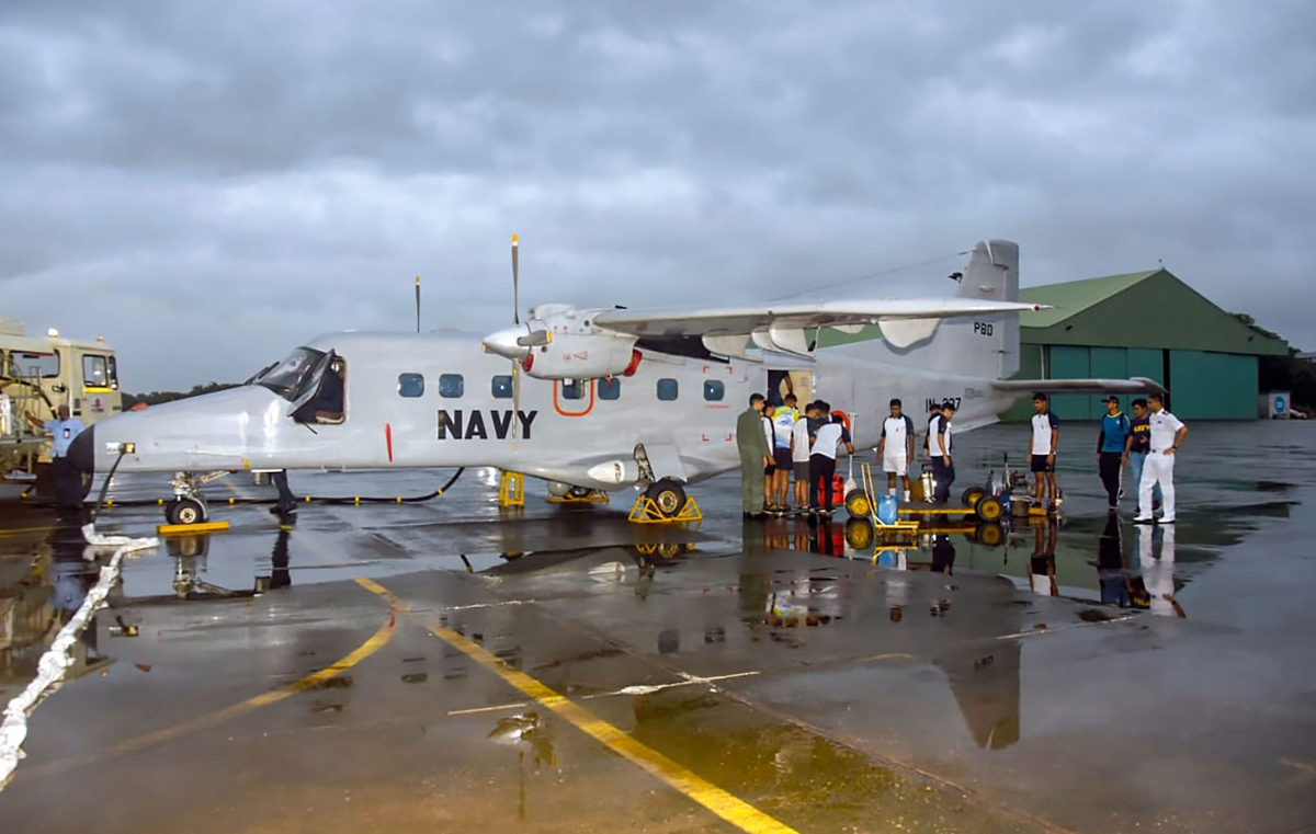 Indian Naval team mobilised to provide assistance in flood affected areas in Kohlapur and Sangli district, in Maharashtra, Wednesday, Aug 7, 2019.
