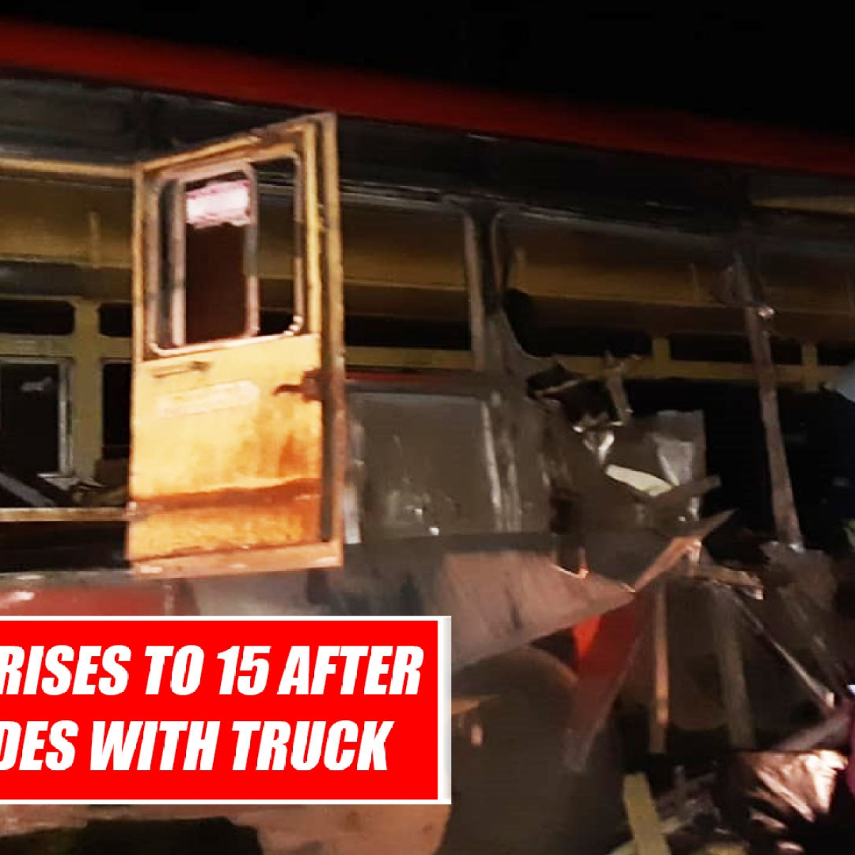 Death Toll Rises To 15 After Bus Collides With Truck In Maharashtra's Dhule