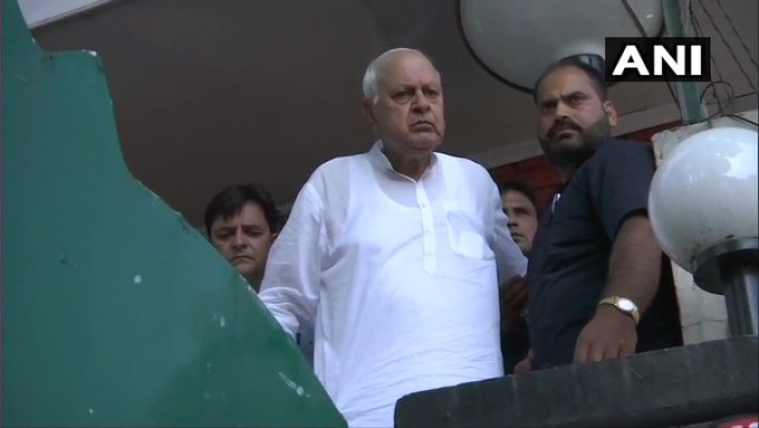 Former Chief Minister and President of National Conference Farooq Abdullah