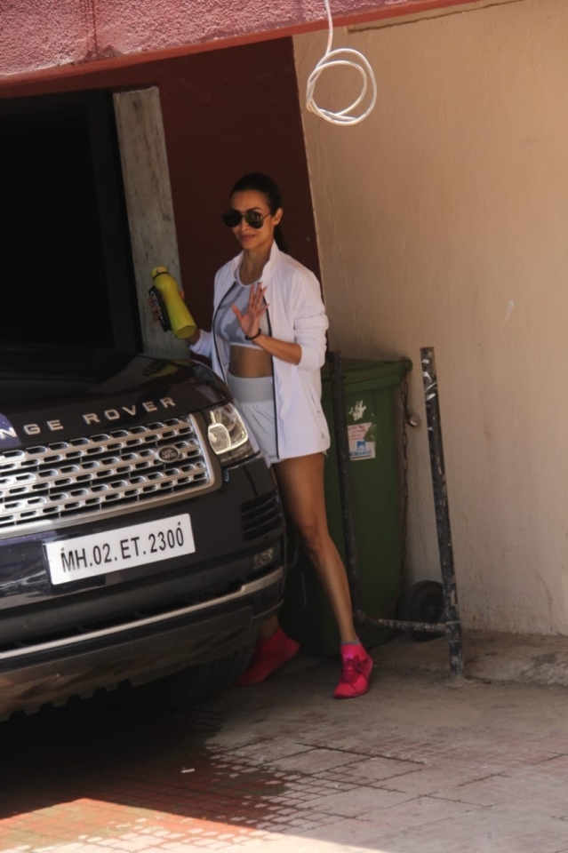 Malaika Arora was spotted post gym session.