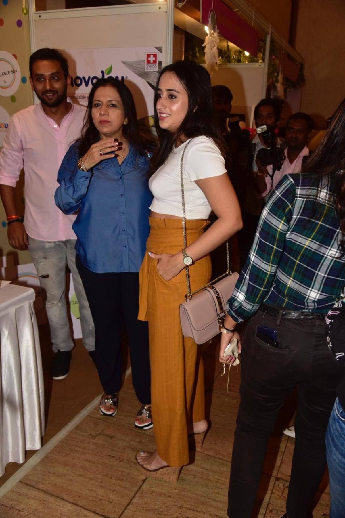 Varun Dhawan's girlfriend Natasha Dalal spotted at an event in Mumbai.