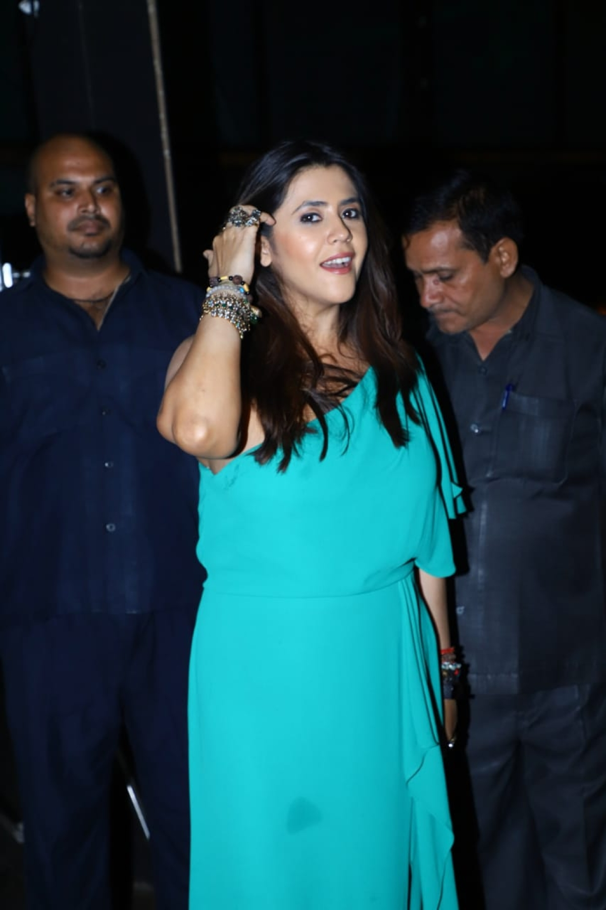 Yesterday was Television's Czarina Ekta Kapoor's birthday. She arranged a lavish party, where many TV celebs marked their presence.