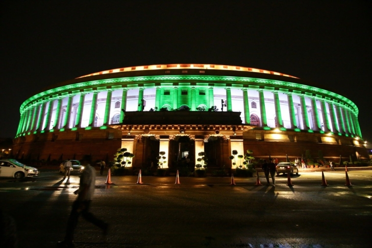 Indian Parliament with Dynamic Lighting Facade