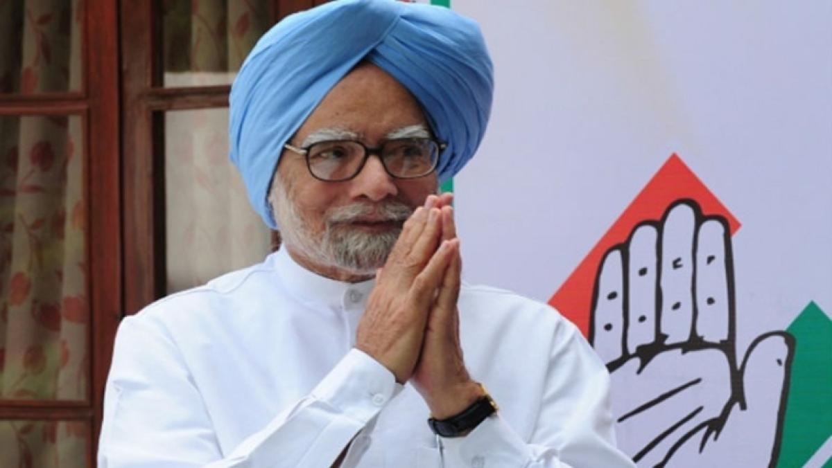 Former Prime Minister Manmohan Singh files nomination papers for Rajya Sabha MP