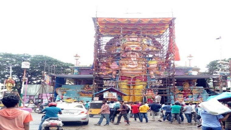 India's tallest idol of Lord Ganesh weighing 50 tonnes ready for devotees in Telangana's Khairatabad