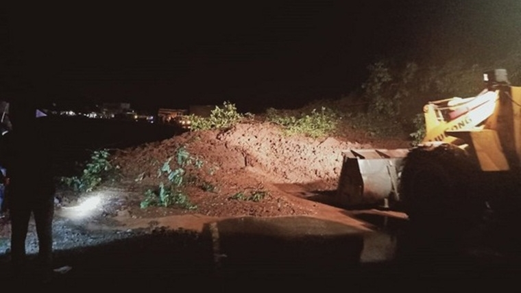 Mumbai-Goa highway closed for traffic due to landslide, road-clearing operation underway