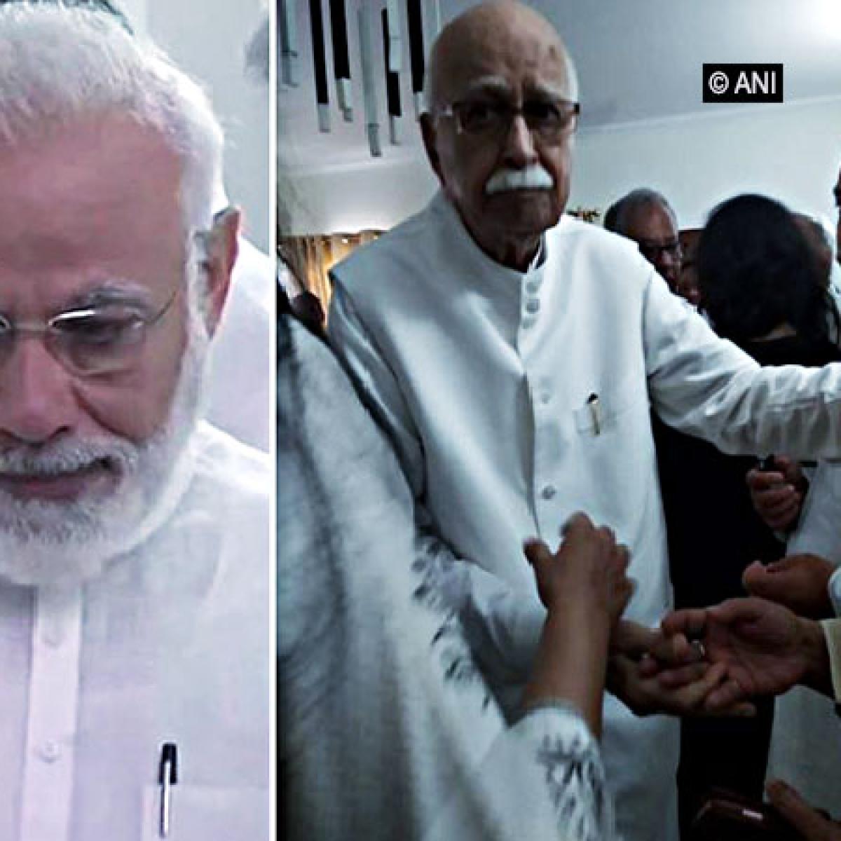 PM Modi, LK Advani turn emotional as they pay last respect to Sushma Swaraj