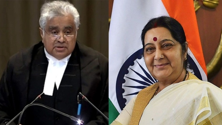 Come and collect your Re 1 fee tomorrow: Sushma Swaraj told Harish Salve an hour before her death