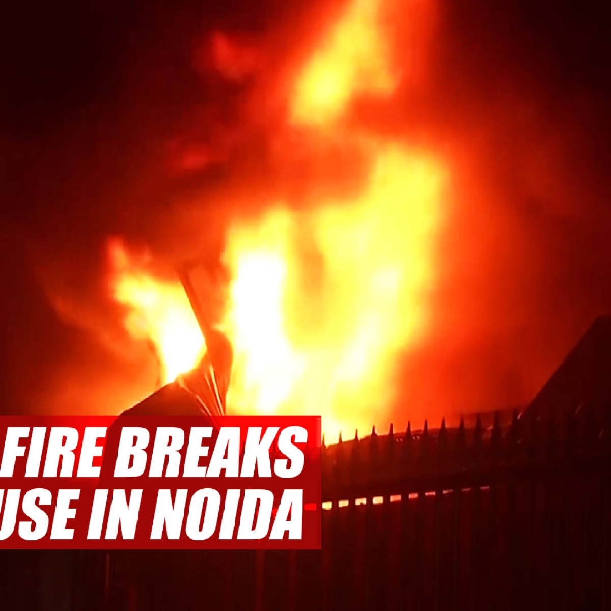 Breaking News: Massive fire breaks out at warehouse in Greater Noida