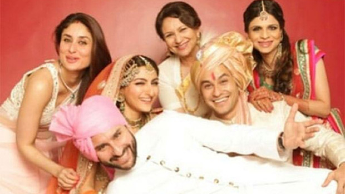 The Pataudis all smiles in this throwback picture from Kunal Kemmu and Soha's wedding