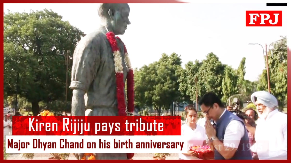 Kiren Rijiju pays tribute to Major Dhyan Chand on his birth anniversary