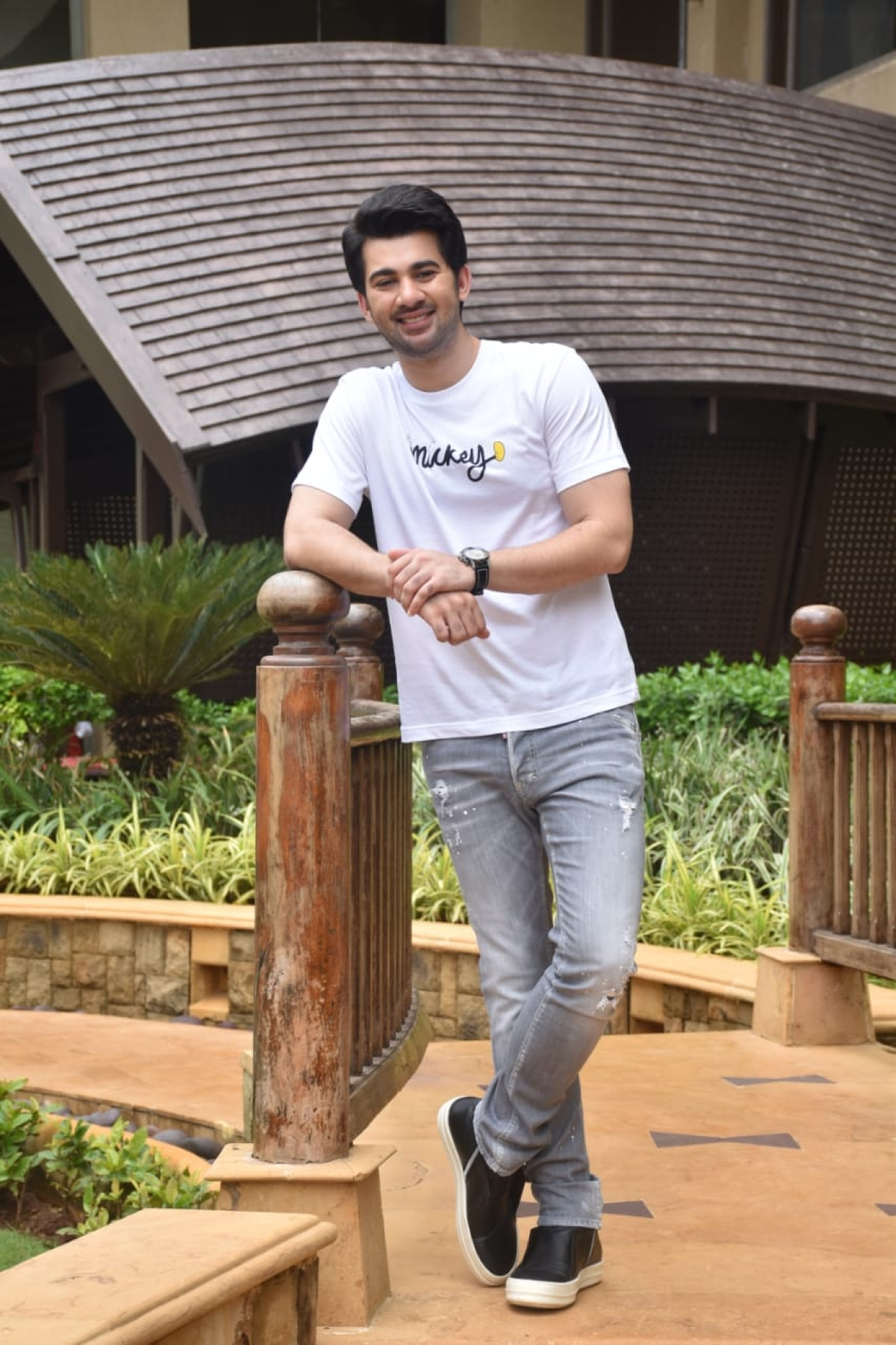 Sunny Deol's son Karan Deol and actress Sahher Bambba were clicked by paparazzi as the duo is promoting their upcoming film 'Pal Pal Dil Ke Pass'.