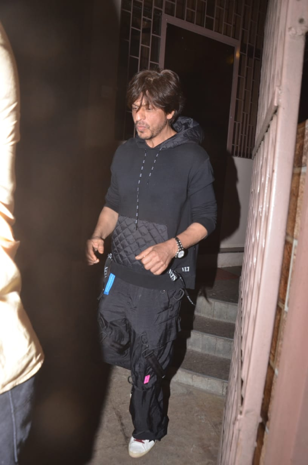 Shah Rukh Khan was snapped at dubbing studio in Bandra.