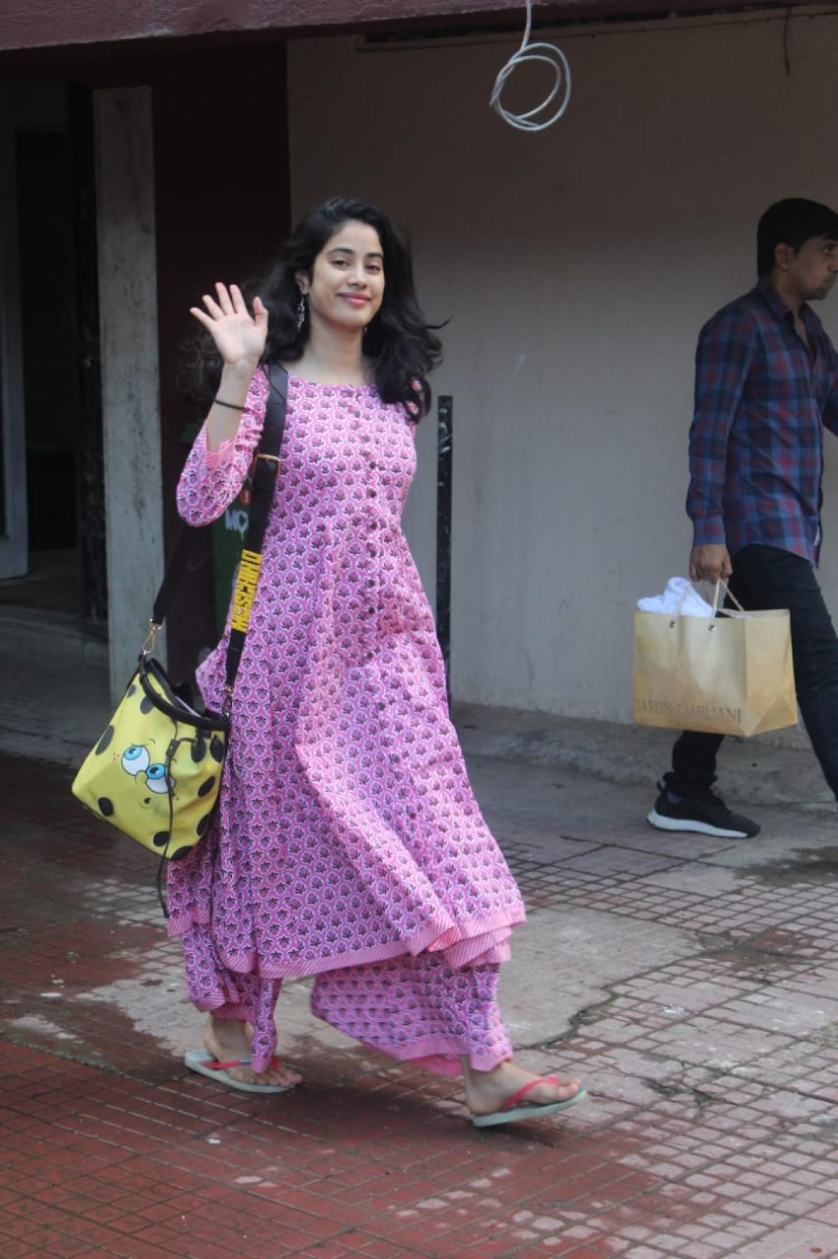 Janhvi Kapoor was seen at Pilates in Bandra.