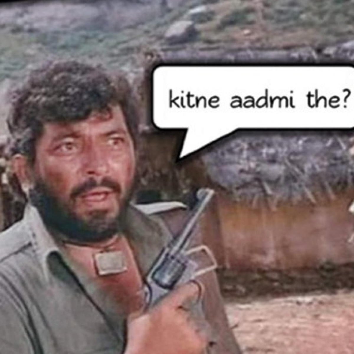 Google answers to Gabbar's question 'Kitne aadmi the' from 'Sholay'