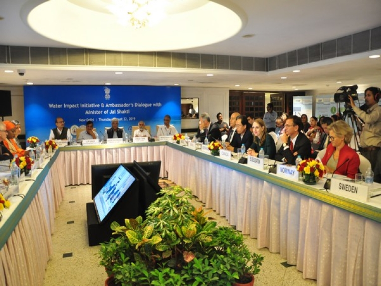 Ambassadors and diplomats of various countries participated in an event on water impact initiatives
