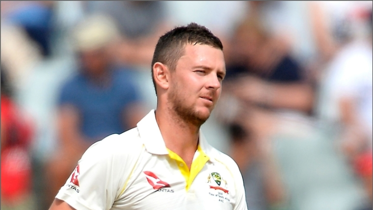 Josh Hazlewood yields wickets on Ashes return