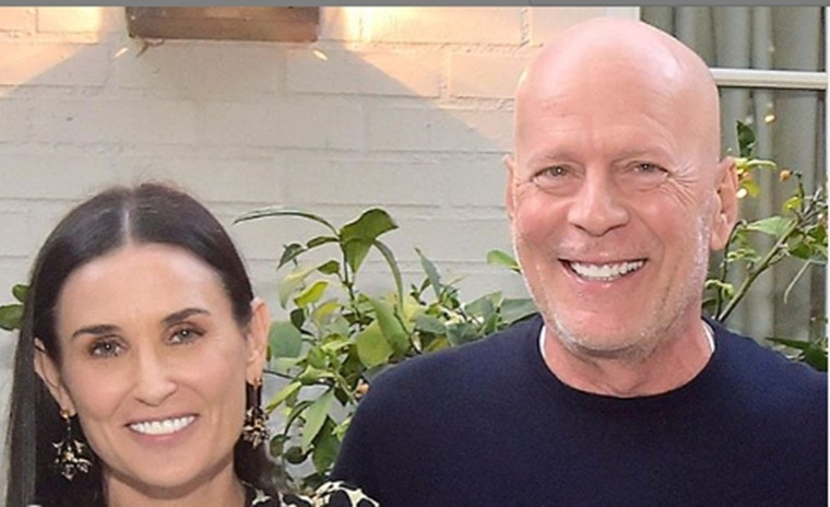 Bruce Willis supports ex-wife Demi Moore at memoir 'Inside Out' launch party