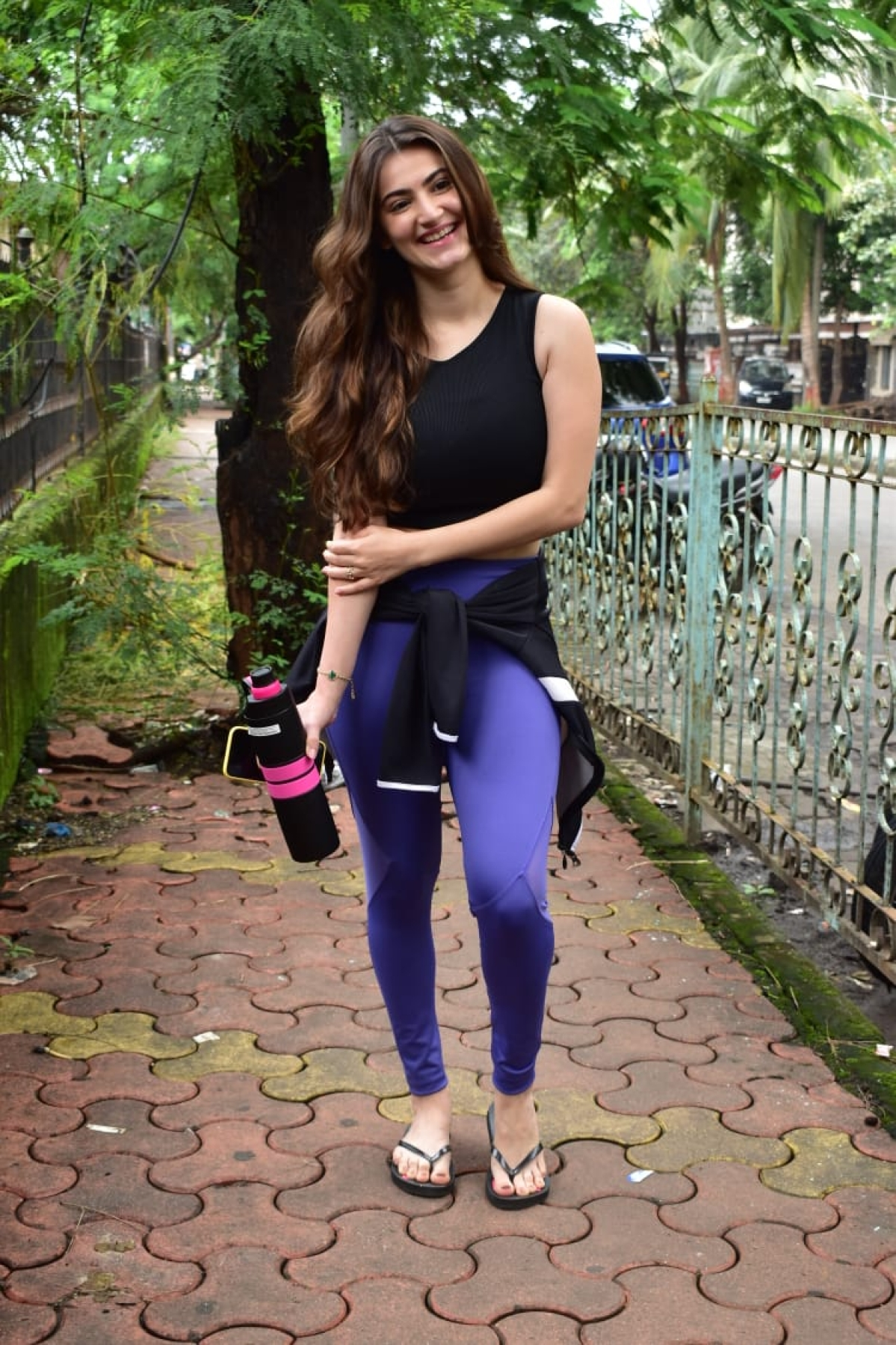 Shivalika Oberoi on her way to gym