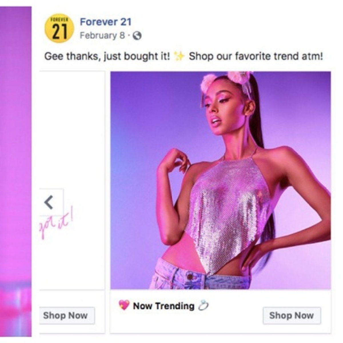 Ariana Grande sues 'Forever 21' for using look-alike model