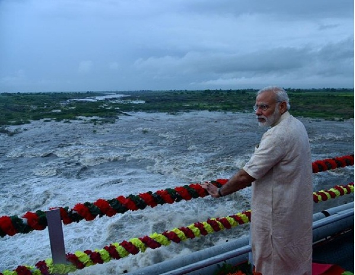 PM Narendra Modi after inauguration of mega Sardar Sarovar Dam project