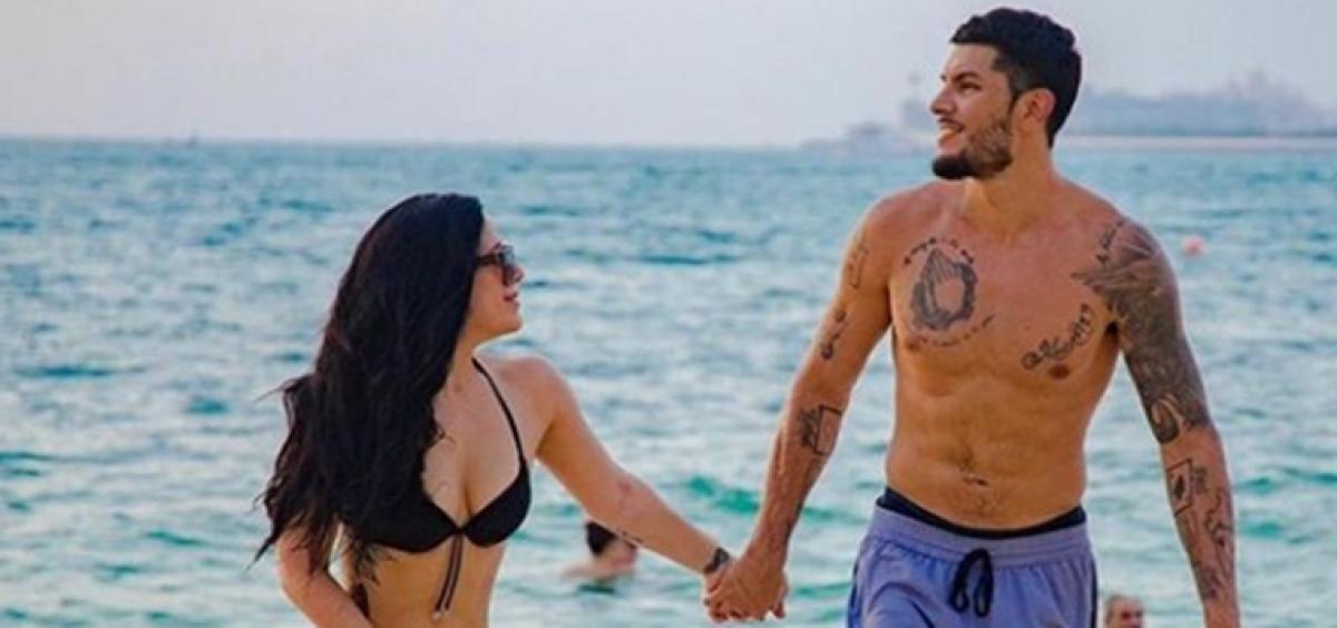 Krishna Shroff grabs eyeballs in a black bikini and tattoos on vacay with BF Eban Hayms