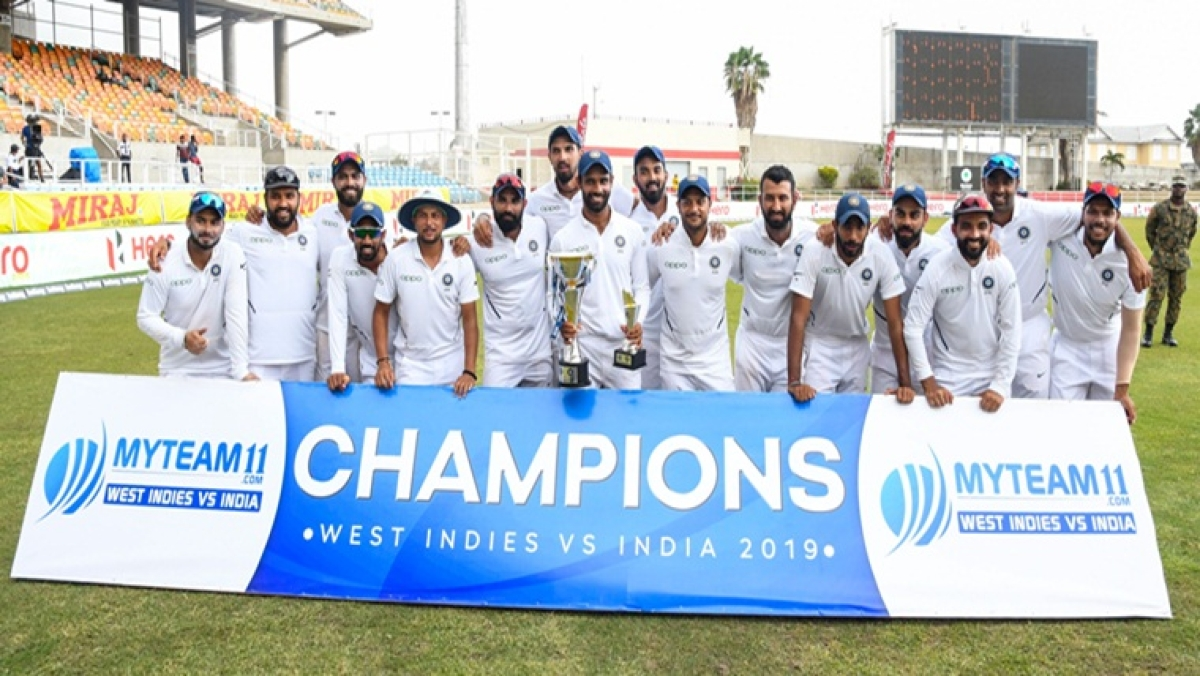 India thrash West Indies by 257 runs to win series 2-0, Virat Kohli wins record 28th Test as captain