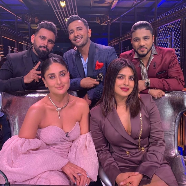 Priyanka Chopra, Kareena Kapoor have a 'kiss off', groove to 'Aaj Ki Raat', see pics, video