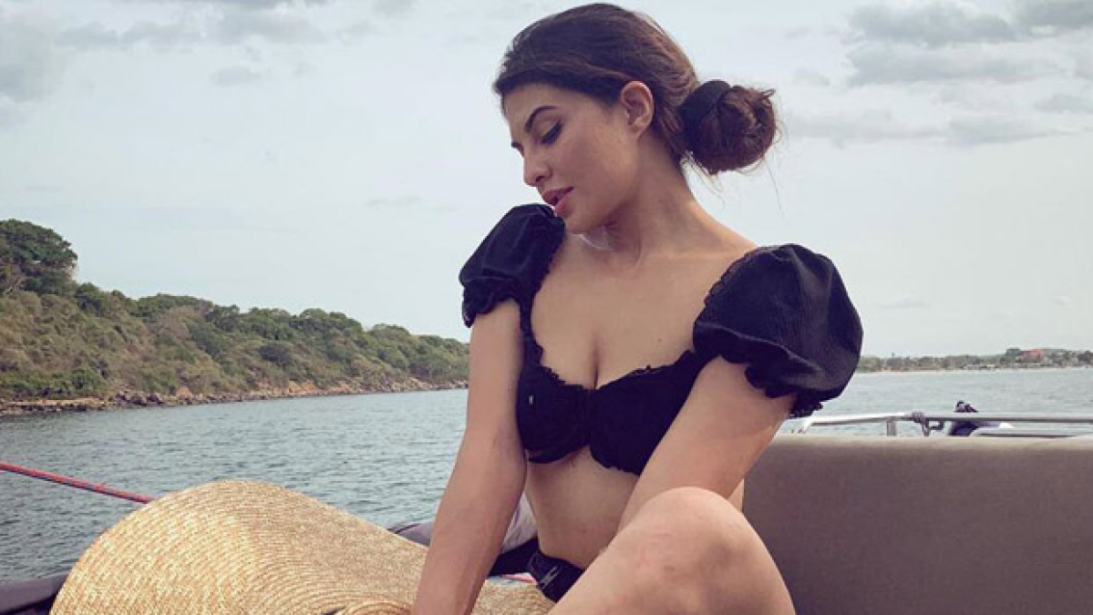 Jacqueline Fernandez will drive away your Monday blues in her black bikini on a yacht!