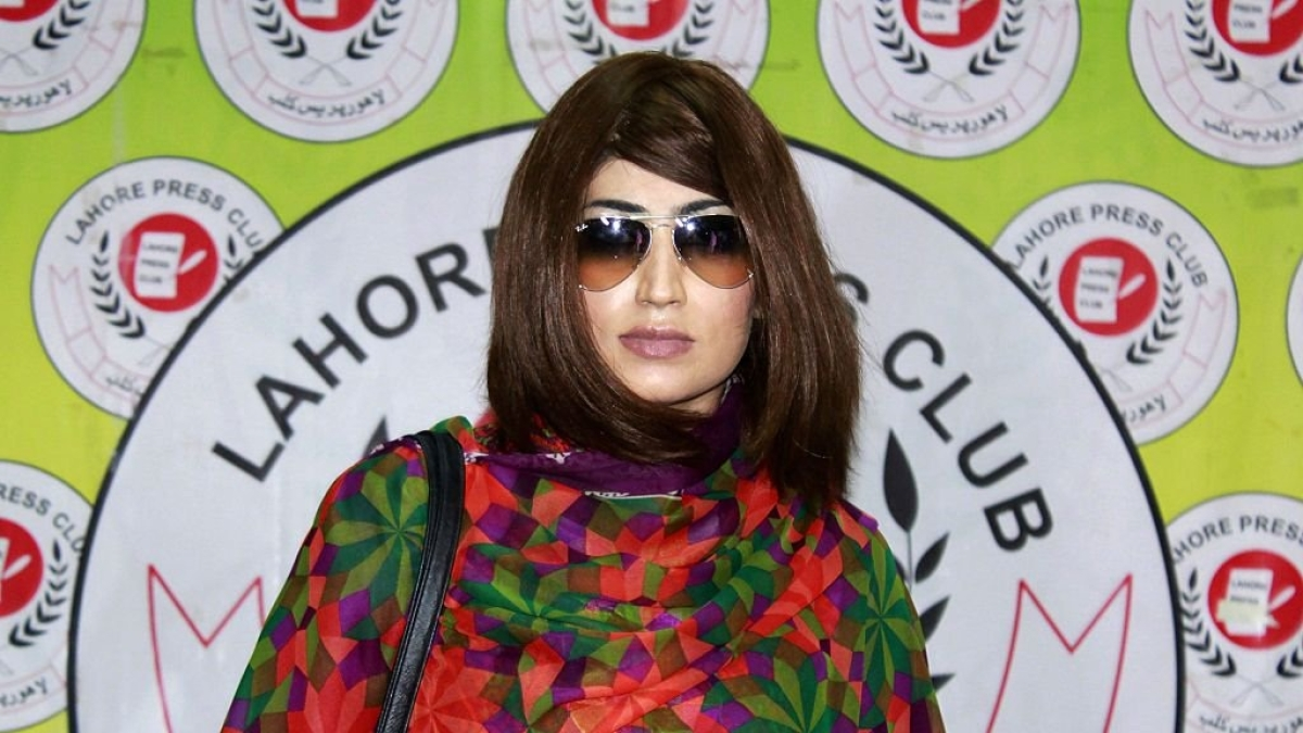 Pakistani social media star Qandeel Baloch.