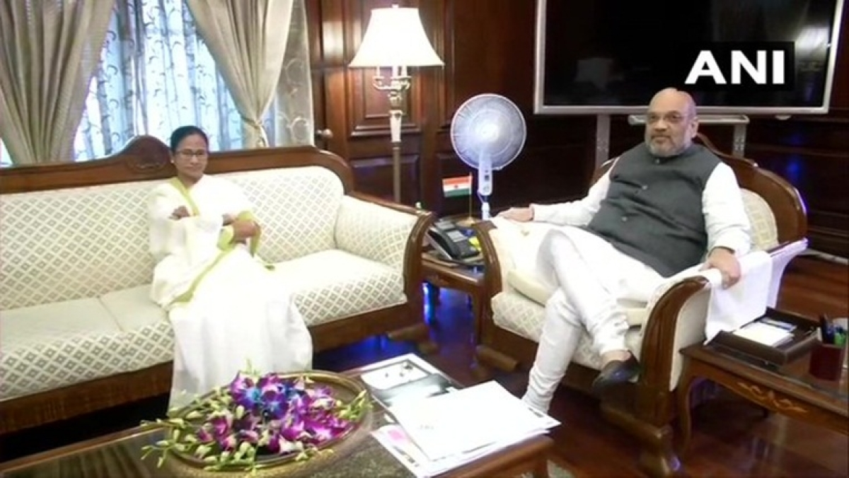Mamata meets HM Amit Shah raised the issue of renaming West Bengal