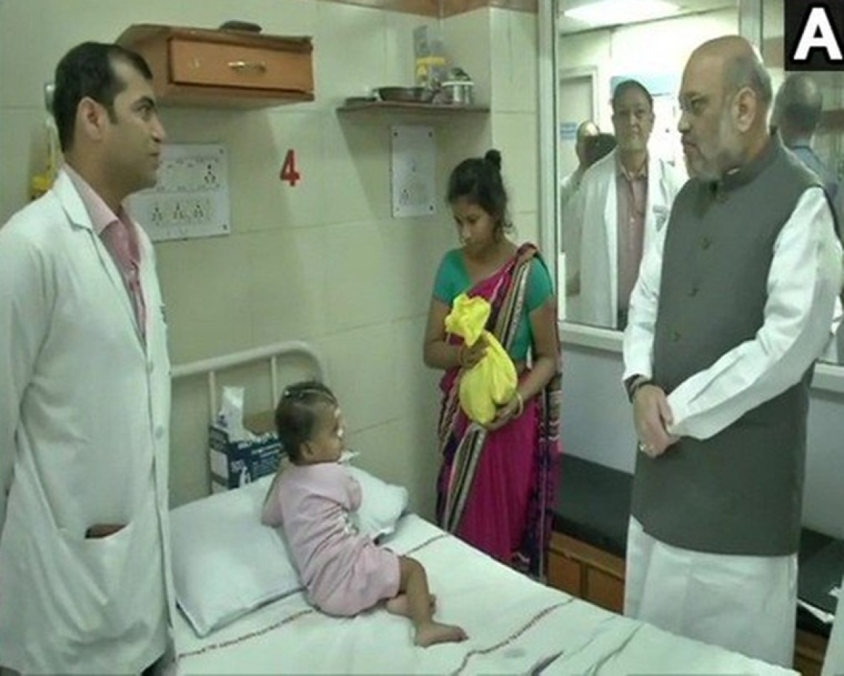 Amit Shah, JP Nadda launch 'Sewa Saptah'; meet patients at AIIMS, mops floor