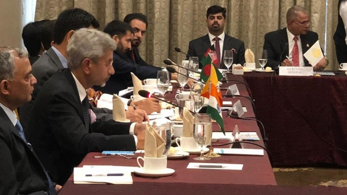 External Affairs Minister S Jaishankar speaking at the SAARC council meeting in New York
