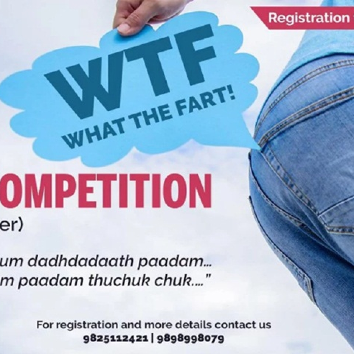 """India's First Farting Contest """"WTF"""" begins on 22nd September with Surat Chapter"""